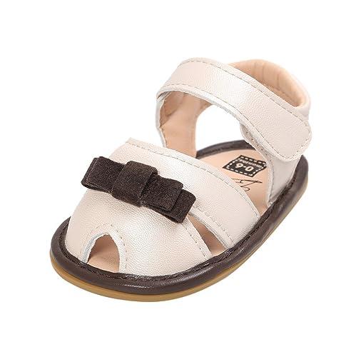 Sandalias de bebé,Auxma Zapatos antirresbaladizos recién Nacidos del ...