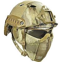 QZY Casco Protector Airsoft Paintball, Cascos Tácticos