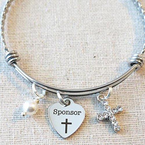 CONFIRMATION SPONSOR Thank You Gift, Catholic Confirmation Sponsor Bracelet, Confirmation Sponsor Gift, Catholic Mentor Gifts, Religious Sponsor Gift