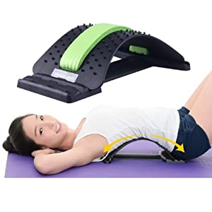 Back Stretcher - Posture Corrector ,Lower and Upper Back Pain Relief, Lumbar Stretching Device - Spinal Traction Device for Back Pain Relief, Massage, Spine Decompression and Alignment