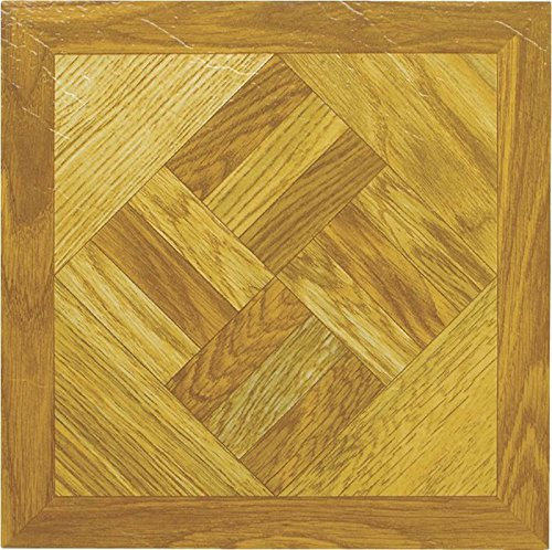 MINTCRAFT ELE-1518-3L Vinyl Floor Tile Wood Geometric