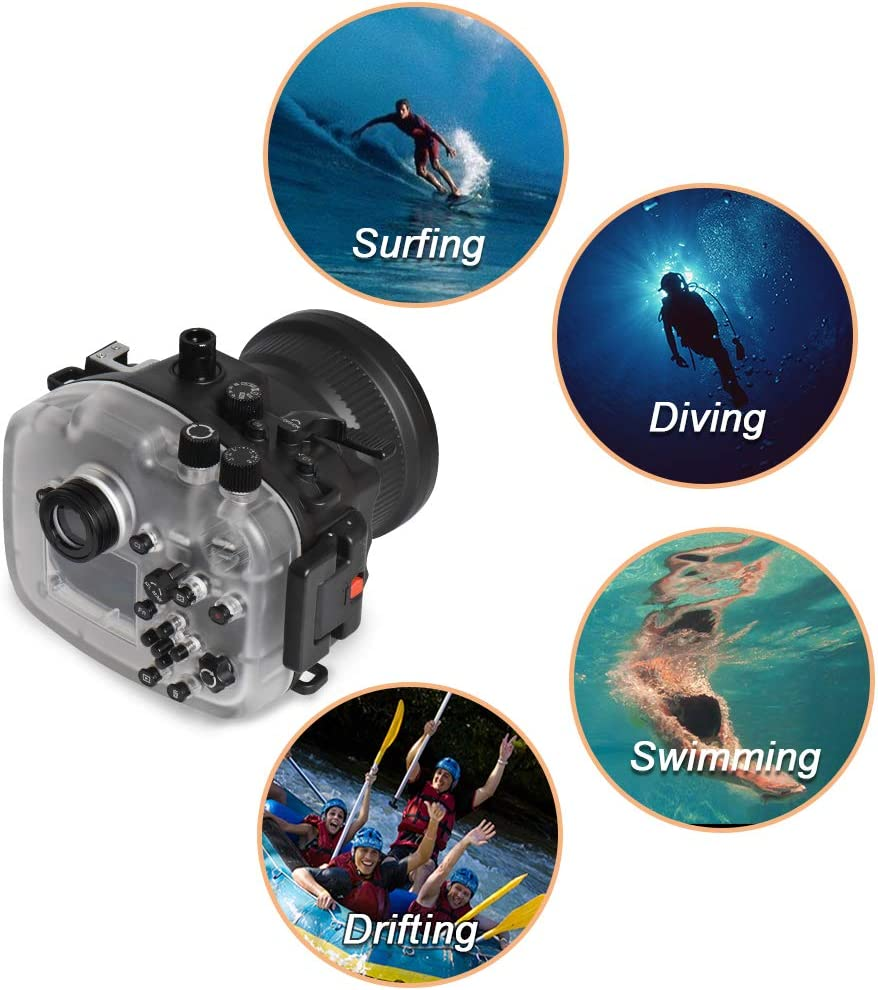 Seafrogs Diving Camera Case for Canon G7X Camera 40m//130ft Underwater Camera Housing Protective Cover 1pc