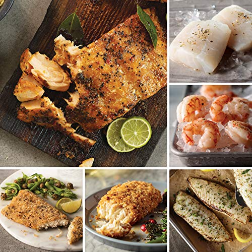 (Omaha Steaks Seafood Friday Favorites (18-Piece with Marinated Salmon Fillets, Lemon-Garlic Tilapia, Wild Argentinean Red Shrimp, Rainbow Trout Fillets, Icelandic Cod Fillets, and Haddock Fillets) )