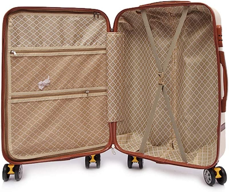 XFRJYKJ-Luggage box Korean Version of The Small Fresh Universal Wheel Password Suitcase Beige Color : Beige, Size : 22inch