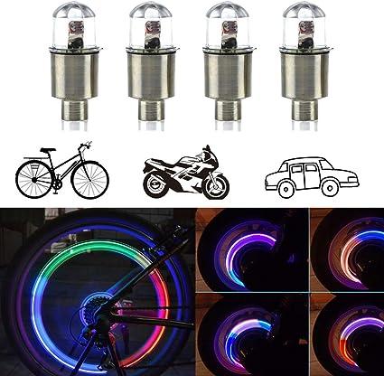 LED Cycle Tire Wheel Valve Stem Cap Lights Waterproof Children Bike Bicycle Lamp