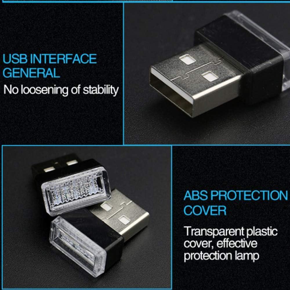 SIWEI Mini-LED-Leuchten Auto-USB-Leuchten Modellierleuchten Umgebungslichter Neonlichter Innenleuchten Auto-Innenausstattung 7 Farben Zur Auswahl