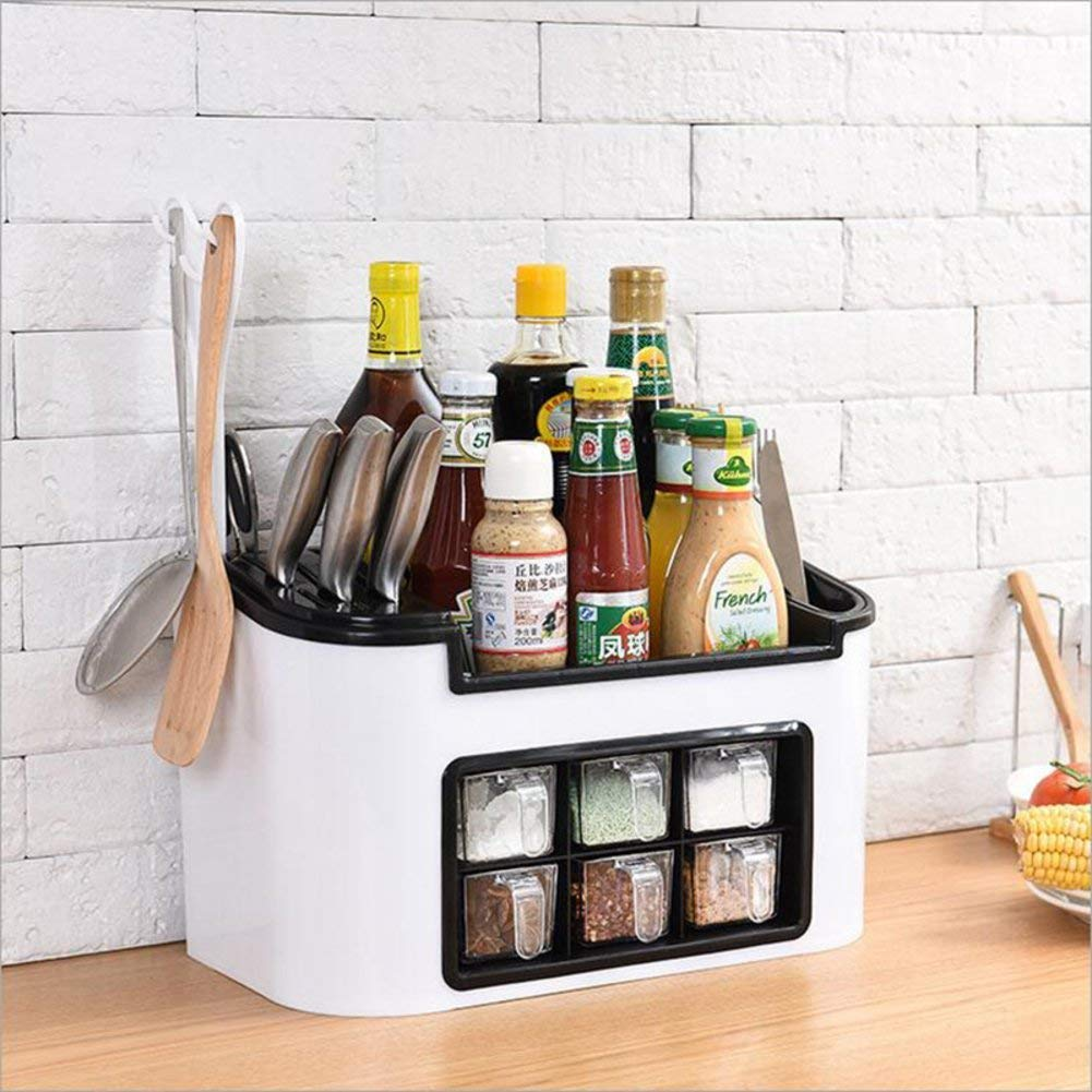 CFTLHL for Home Kitchen, Outdoor Barbecue, Kitchen Rack, Seasoning Box Storage Box, Spice Bottle Set - Green,White