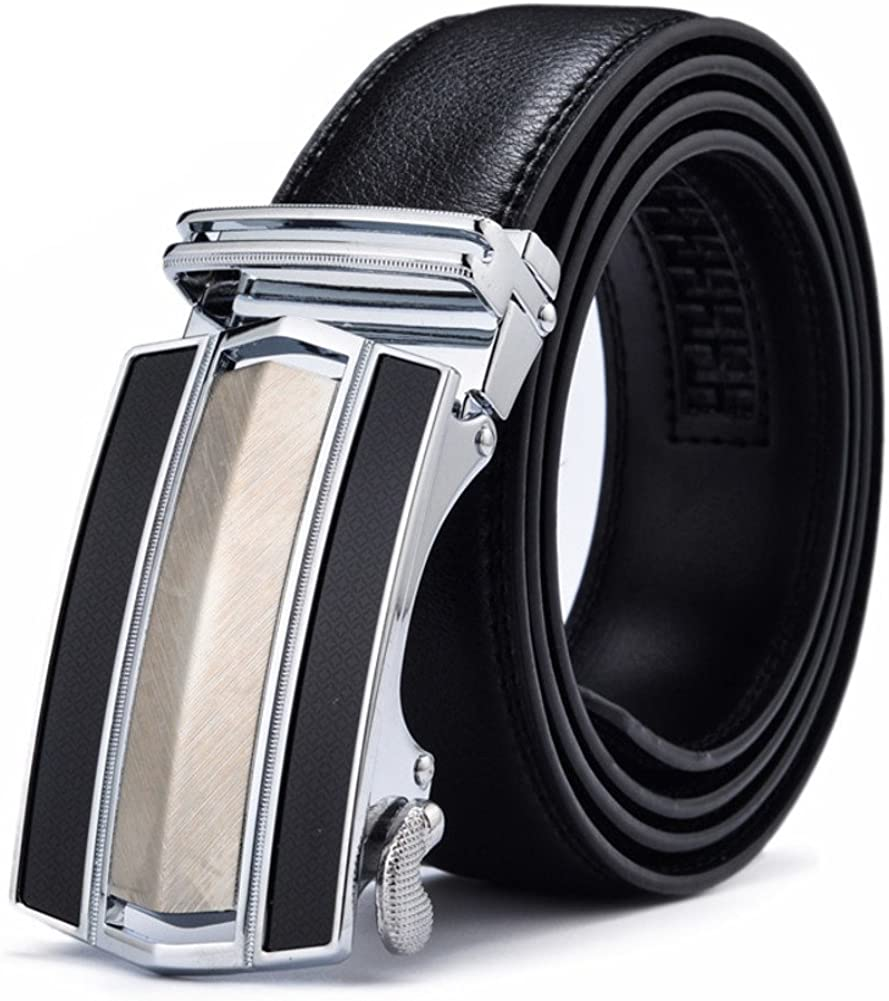 45inch Automatic Deduction Business Belt//Youth Casual Belt-Black 115cm