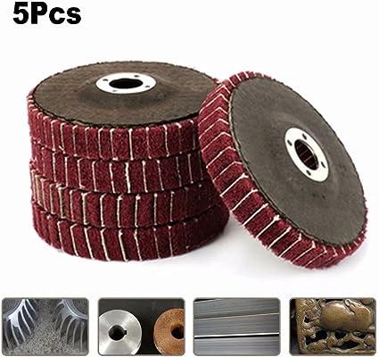 2 Pcs Metal Polishing 16mm Inner Dia Nylon Abrasive Discs Gray