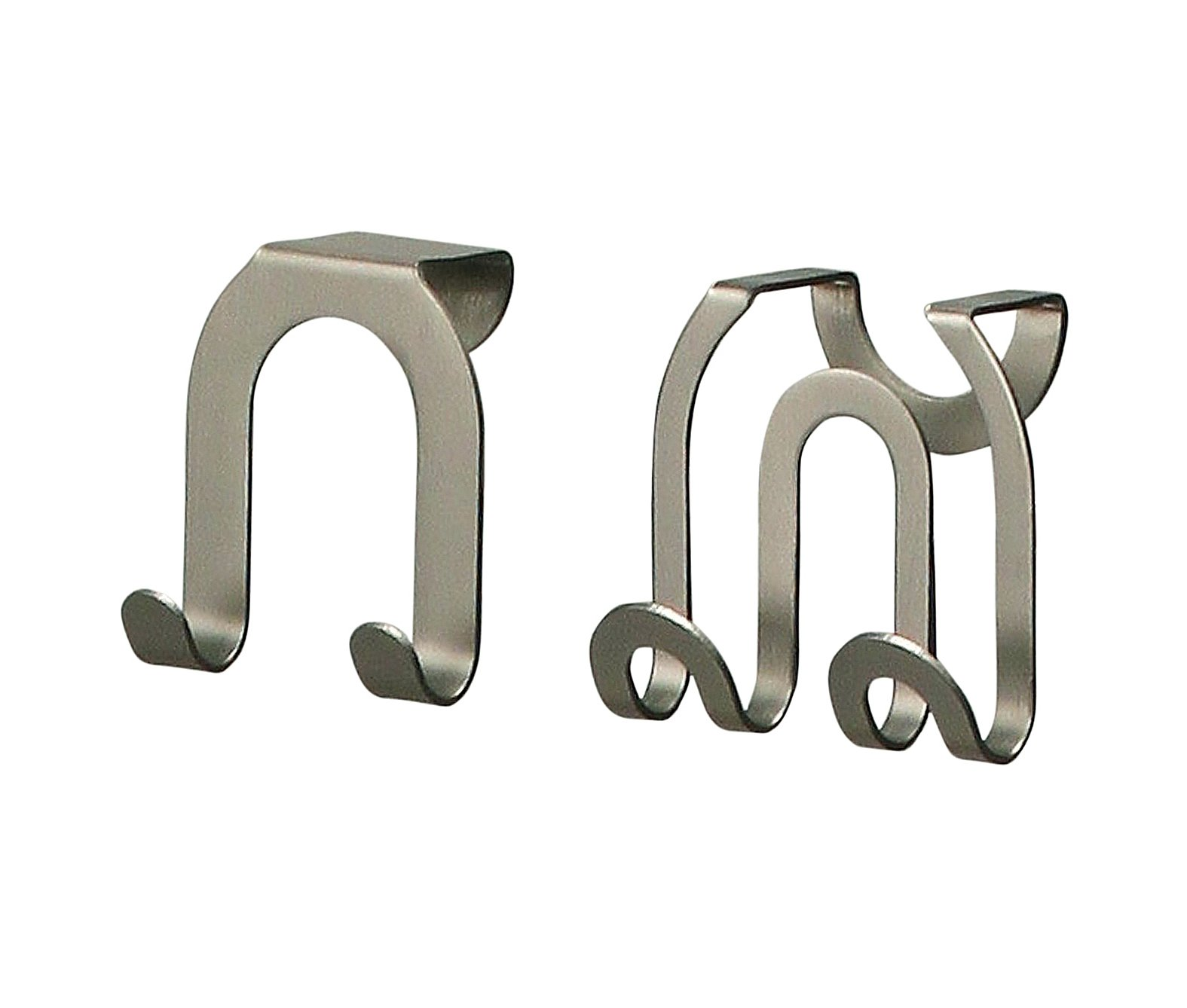 Spectrum Diversified Over-The-Cabinet Door Double Hook, Brushed Nickel