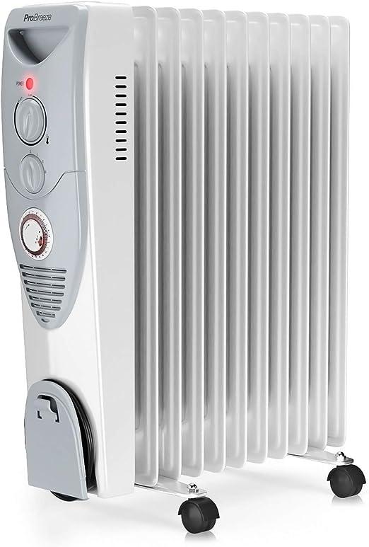 Pro Breeze® Radiador de Aceite 2500W, 11 Elementos - Calentador ...