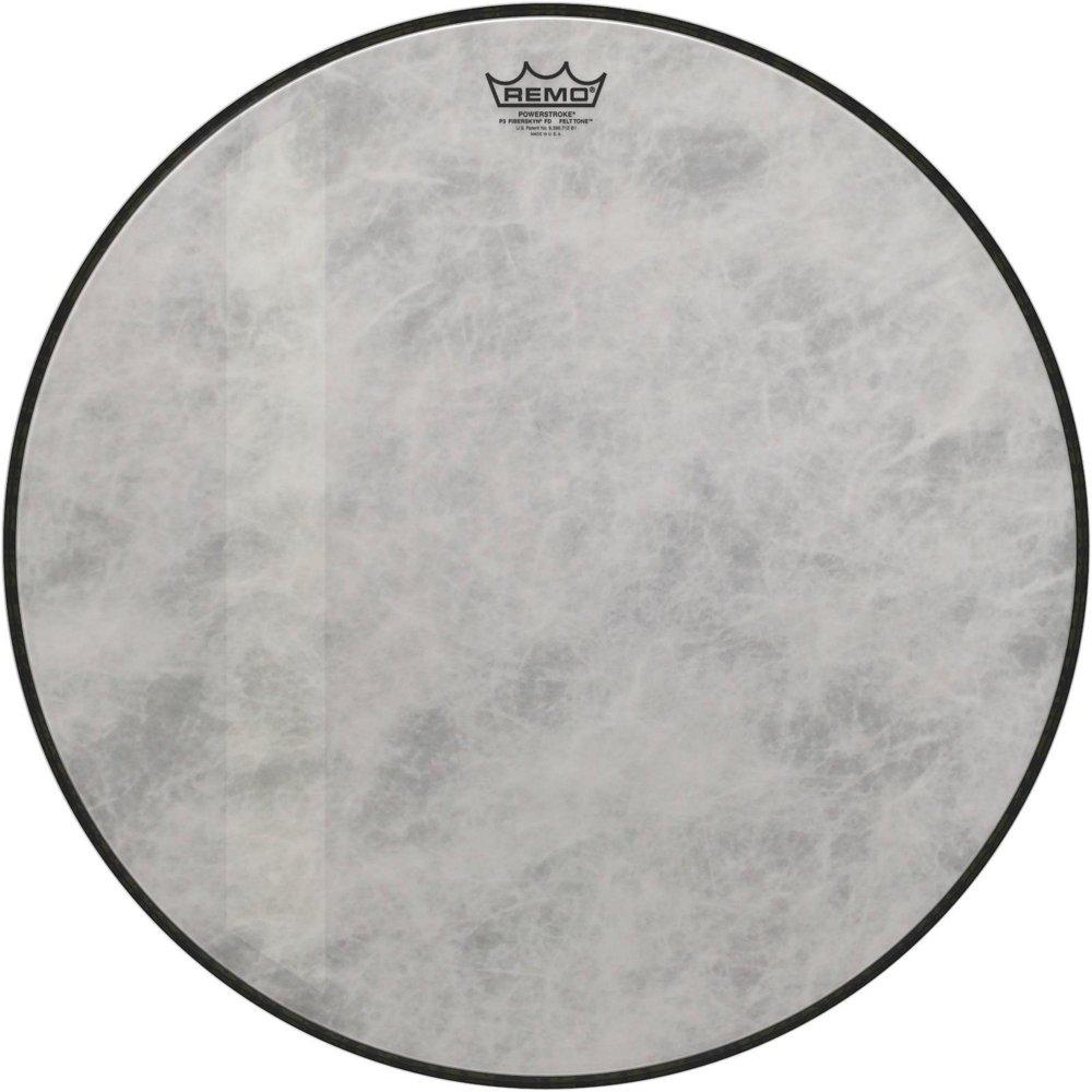 Remo P3-1526-FD-FLT Powerstroke P3 Felt Tone Fiberskyn Diplomat, Bass Drumhead, 26