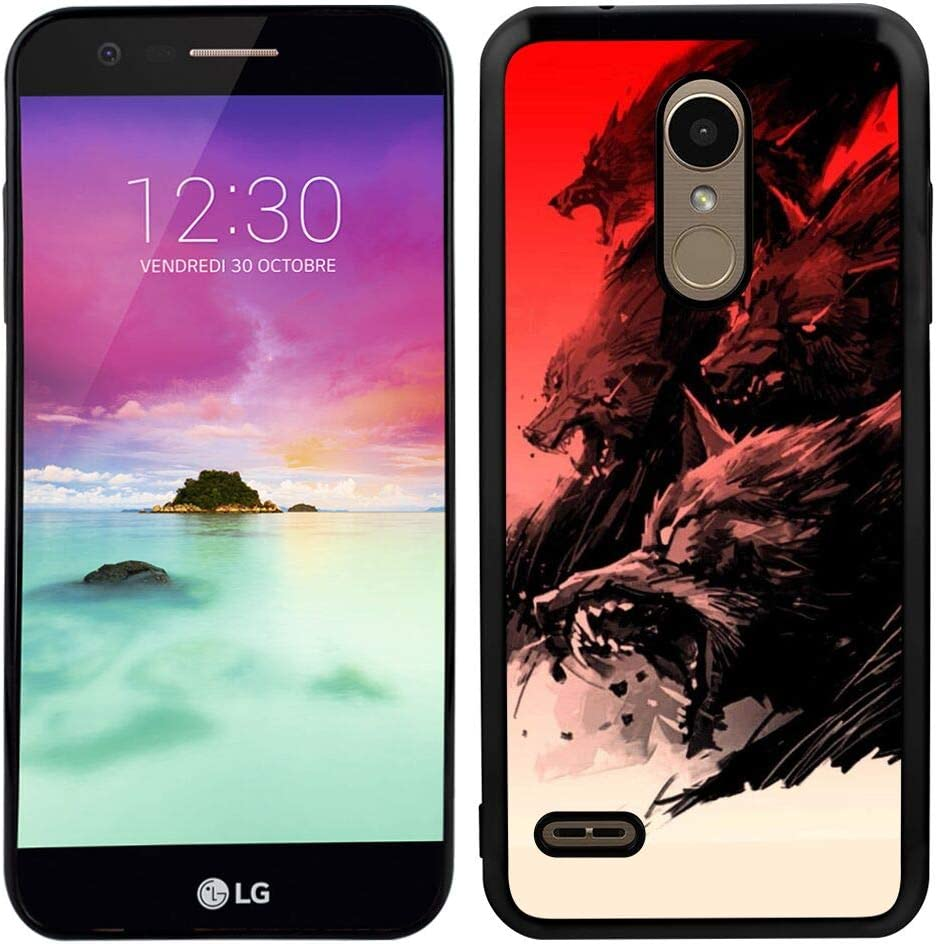 Glossy Edge Phone Case for LG K10 (2018) 5.3 Version Wolf