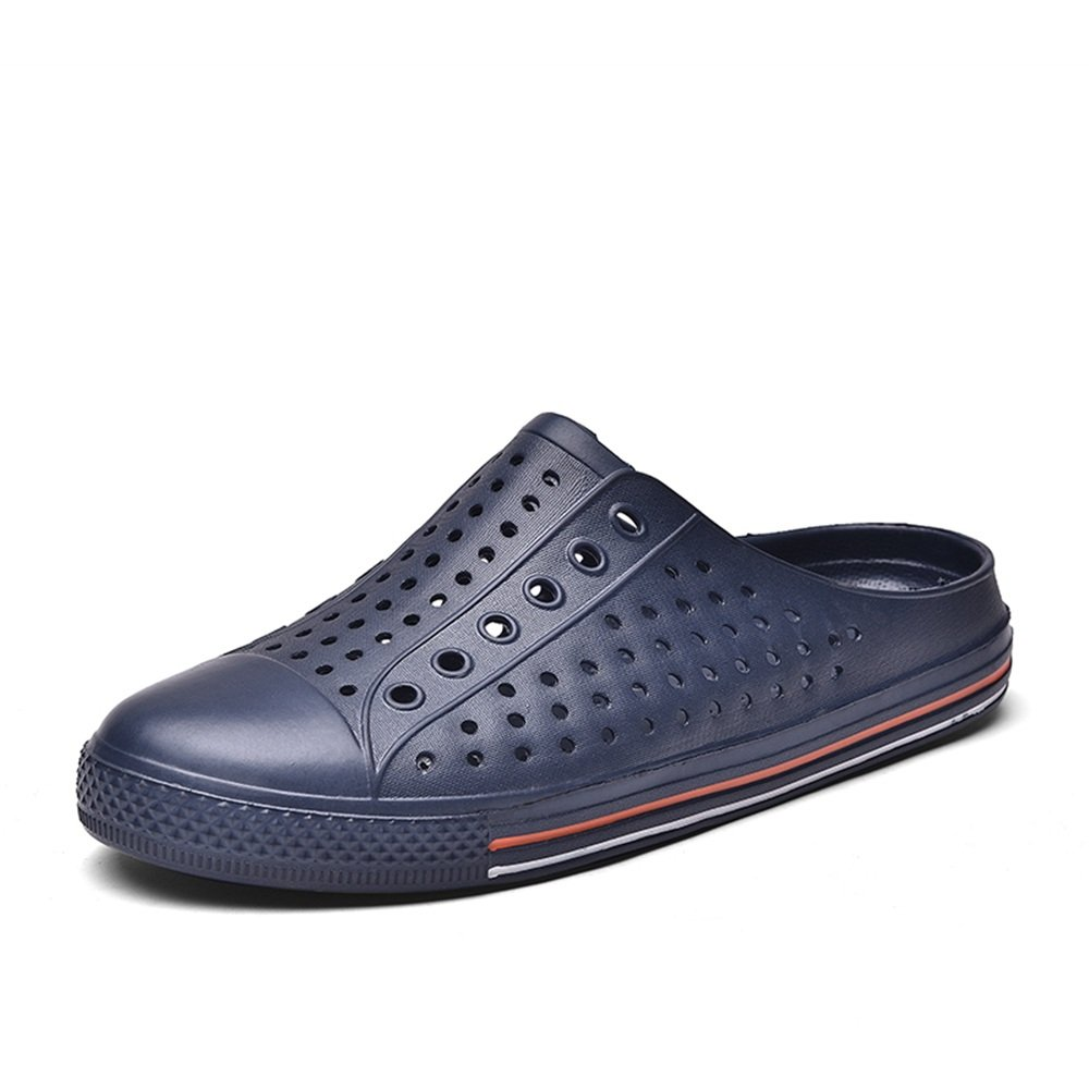 bluee MUMUWU Women and Men's Fashion Mules Flat Heel Slip on Slipper Sandals