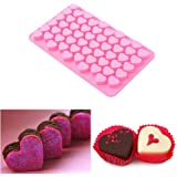 JUNGEN Silicone Cake Mould Ice Cube Chocolate Moulds Mini Heart Shape Jelly Moulds for cake decorating