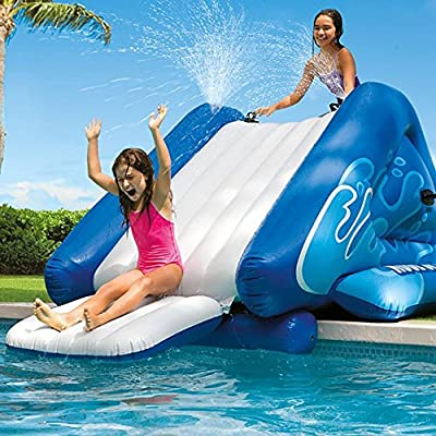 Alek...Shop Water Slide Accessory Play Swimming Pool Inflatable Splash Slide Kids Easy Fun Game Family Center Slide: Toys & Games