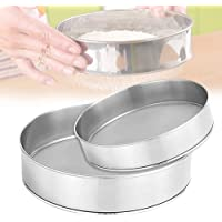 2 PCS Flour Sifter 6 Inch and 8 Inch Stainless Steel Round Flour Sifter,60 Mesh Sieve Fine Mesh for Baking Straining…