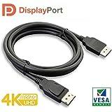 Paugge V1.2 Vesa DisplayPort Sertifikalı 21.60 Gbps Bandwith 5K 30Hz, 4K 60Hz, 2K 165Hz, 1080p 240Hz Destekli FreeSync G-Sync Displayport Kablo (1.8 Metre)