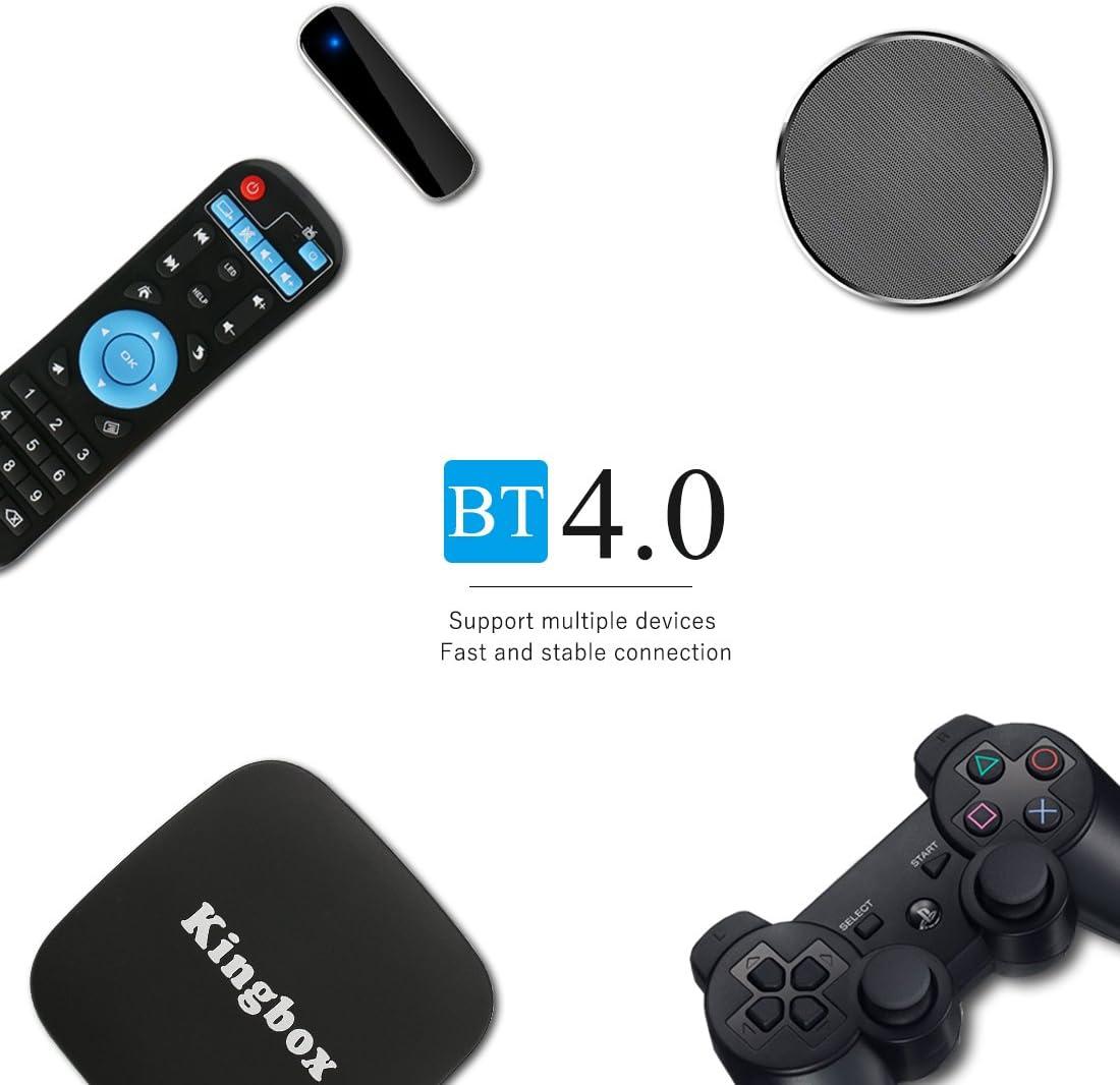 King Box – Smart TV Box [edición de 2018] K1 Android 7.1 TV Box 1 GB RAM + 8 GB ROM Bluetooth 4.0 Quad Core/4 K Full HD/3d/H.265/100 LAN/WiFi 2,4 GHz, con