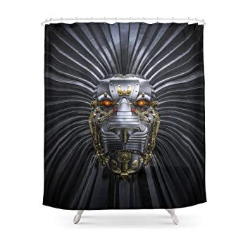 Society6 Lion Robot Shower Curtain 71quot