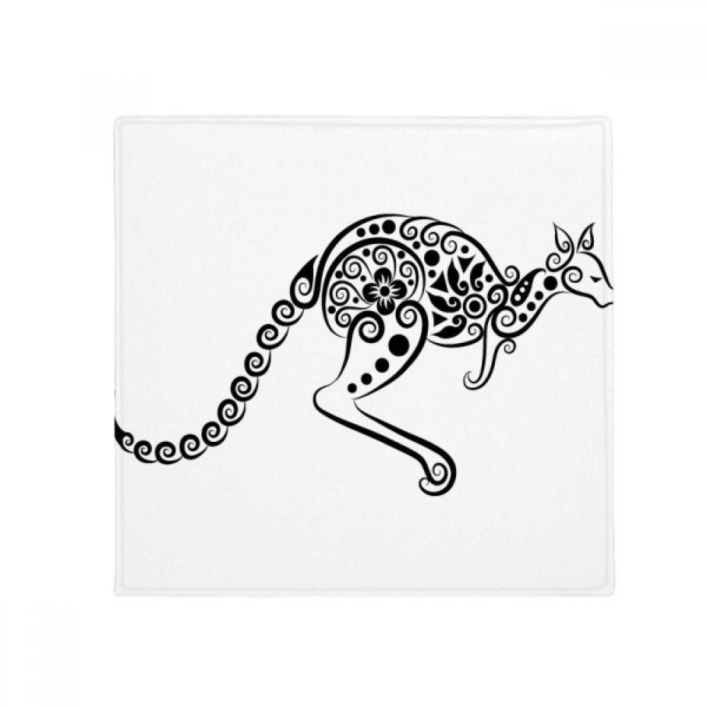 DIYthinker Australia Flavor Kangaroo Skeleton Illustration Anti-Slip Floor Pet Mat Square Home Kitchen Door 80Cm Gift