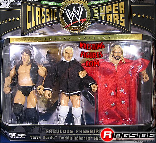 FREEBIRDS (MICHAEL HAYES, TERRY GORDY & BUDDY ROBERTS) CLASSIC SUPERSTARS 3-PACK WWE TOY WRESTLING ACTION FIGURES by WWE
