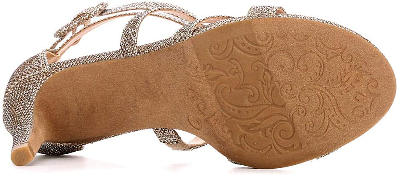da7c5ffda8051 Maripe Womens Elissa High Heel Strappy Sandal Shoes