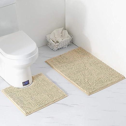Bath Bath Mat Set Non Slip Pedestal Toilet Rug Bathroom Water Absorbent 2 Piece Sets Home Furniture Diy Tohoku Morinagamilk Co Jp