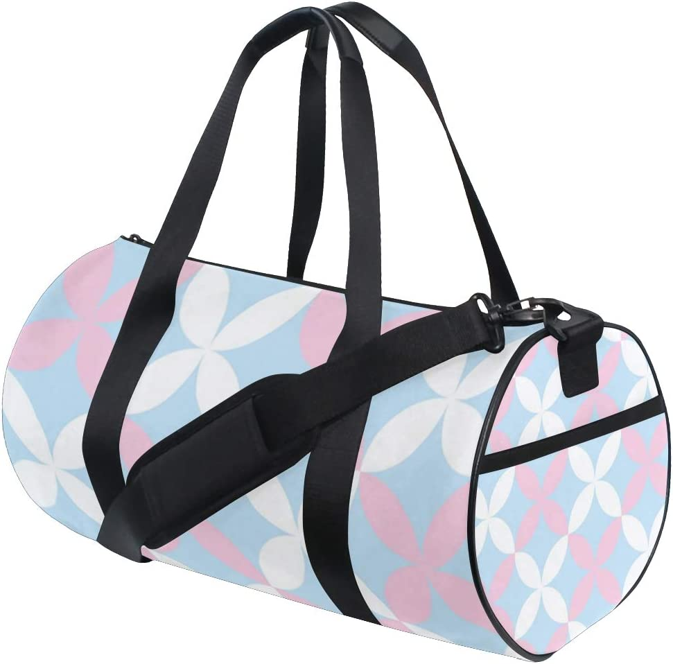 MALPLENA Fresh Clover Pattern Drum gym duffel bag women Travel Bag