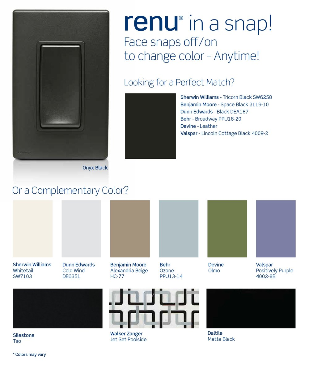 Leviton RKDMD-OB Renu Dimmer Color Change Kit, Onyx Black - Wall Dimmer Switches - Amazon.com