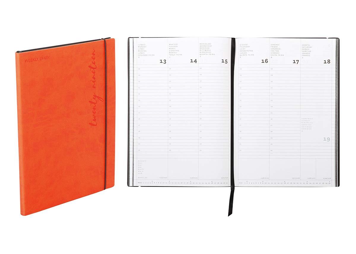 Agenda settimanale 2020 Flexy-Diary 17 X 24 Cm colore arancione