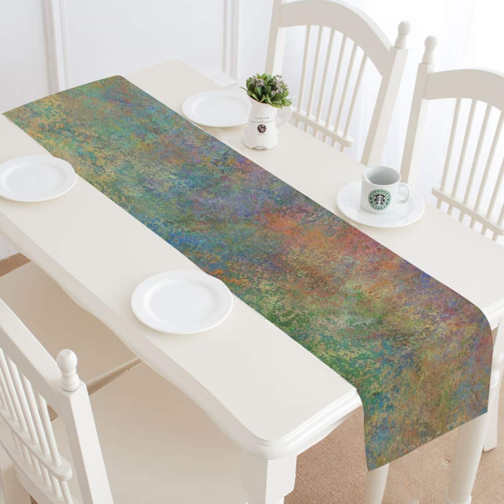 Jnseff Texture Art Pattern Color Table Runner, Kitchen Dining Table Runner 16 X 72 Inch For Dinner Parties, Events, Decor by Jnseff (Image #2)