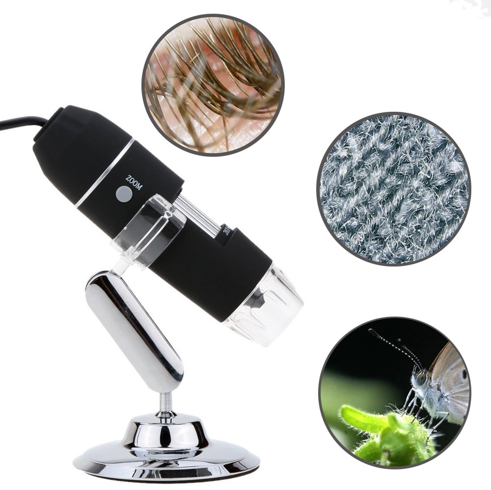 Portable USB Digital Microscope 20x-800x Magnification 8-LED Mini Microscope Endoscope Camera Magnifier with Stand by TOPMYS (Image #2)