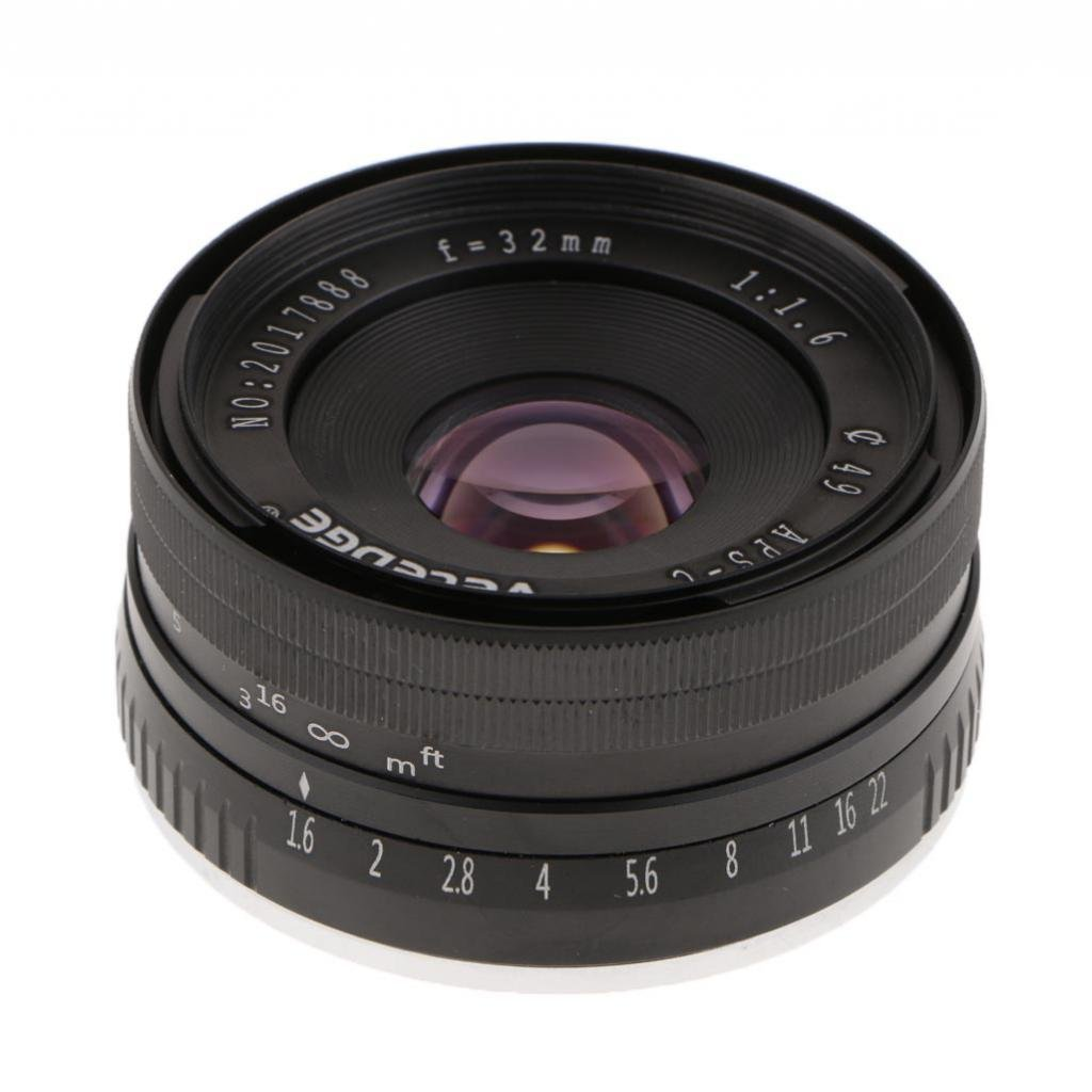 Homyl 32mm f/1.6 Large Aperture Manual Focus Lens APS-C for Sony E Mount Mirrorless Camera NEX 3 5 6 by Homyl (Image #1)