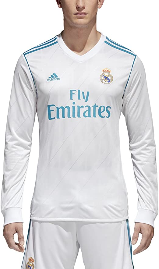 adidas Real Madrid CF Home Long Sleeve Jersey [WHITE] (XL): Amazon.es: Deportes y aire libre