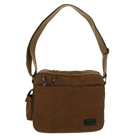 22a6cea7fc4c Image Unavailable. Image not available for. Color  Generic Canvas Messenger  Bag for Men laptop Vintage ...