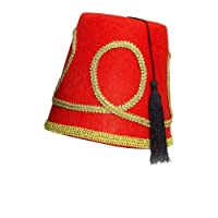 Forum Novelties Red Fez Felt Hat Deluxe Edition