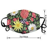 Dust Mask Daisies Floral Face Mask Fashion