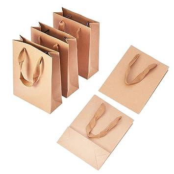 Pandahall 10pcs Sacs En Papier Kraft Pochette Cadeau Sacs à