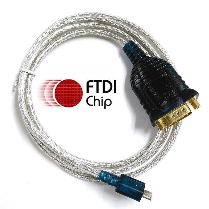 uc232/FTDI USB RS232-Kabel mit DB9-Stecker Full Pinbelegung kompatibel mit uc232/us232/Micro USB Seriell Kabel Typ C Kabel seriell