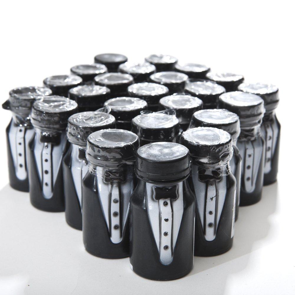 amazoncom fun express black tuxedo wedding bubble bottles 24 pieces toys u0026 games