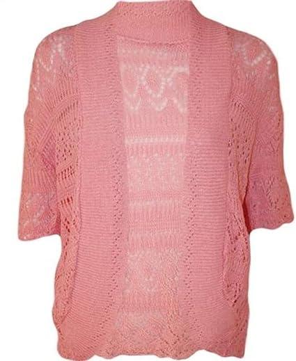 426d6a9b3b R KON Women s Crochet Knitted Bolero Shrug Cardigan Top at Amazon ...