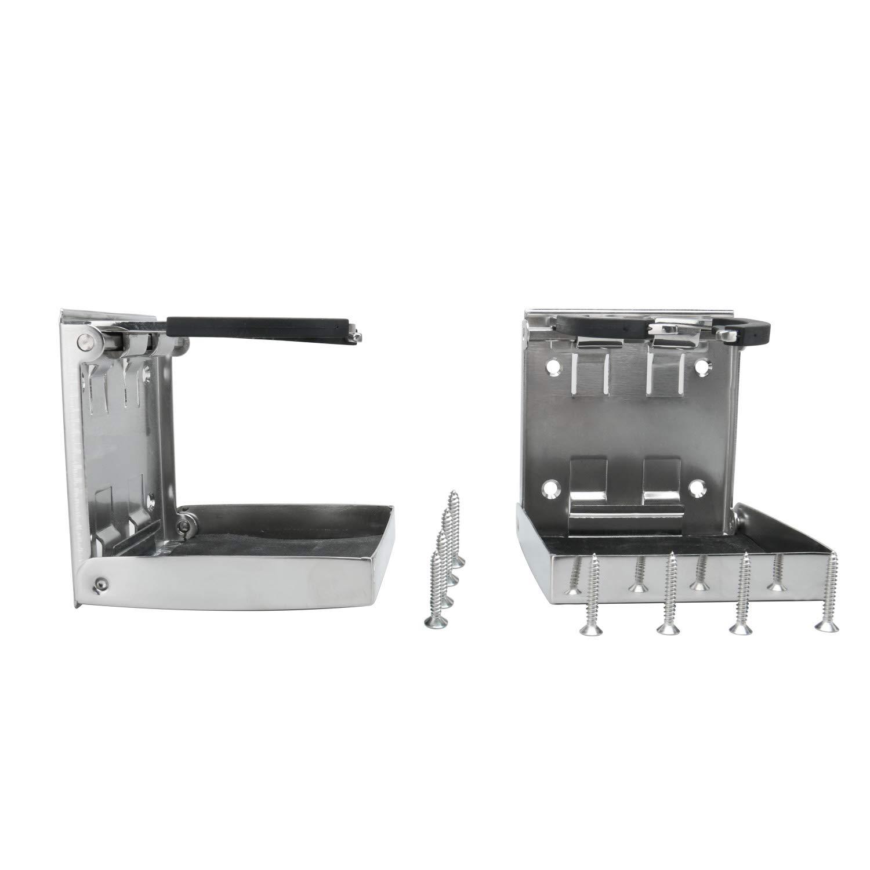 FreeTec Edelstahl verstellbare faltende Getr/änkehalter Marine//Boot//Wohnwagen//Auto 55mm-75mm Durchmesser