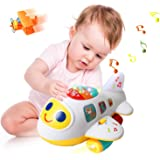 Huile Baby Toys Electronic Airplane Toys with Lights & Music ,Best Kids Early Learning Educational Toys for Toddlers Boys and