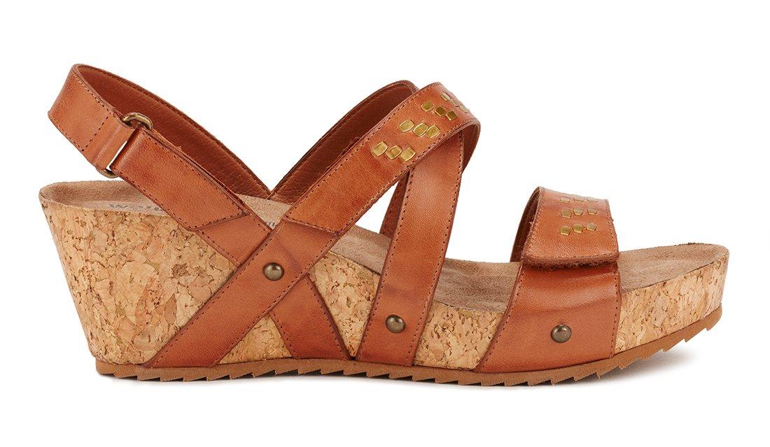 Walking Cradles W-100002 Tiernan Womens Leather 2 1/2'' Heel Rubber Outsole Sling Wedge Sandal
