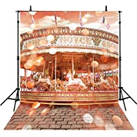 Bokeh Backdrops For Photography 8Feet-8Feet Photo Background Carousel Backdrops Children Vinly Photographic Backdrops