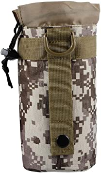 Outdoor Tactical Military Molle System Water Bottle Bag Kettle Pouch Holder NEW