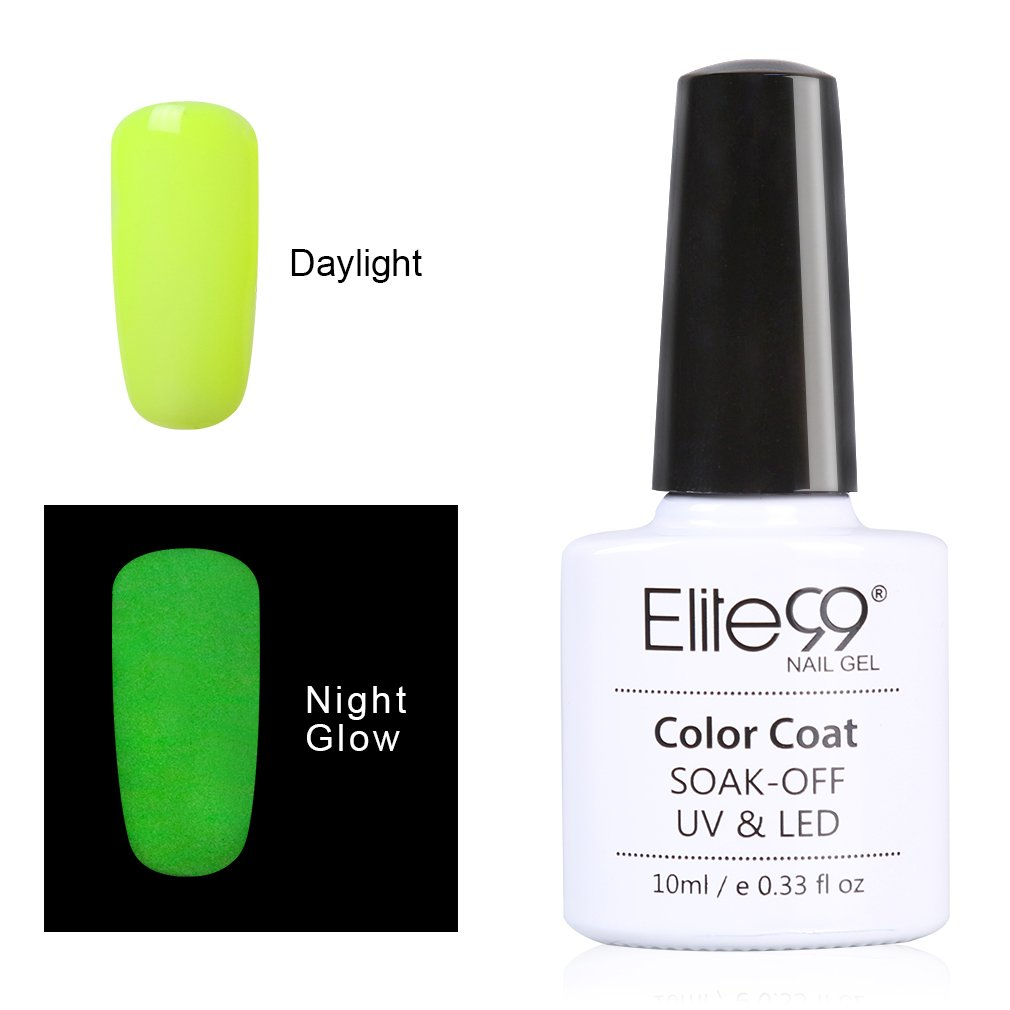 Elite99 Night Glow In the Dark Gel Nail Polish Soak Off UV LED ...