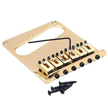 Sharplace Doble Pastilla Humbucker Puente Tailpiece para Telecaster Guitarra Eléctrico: Amazon.es: Instrumentos musicales