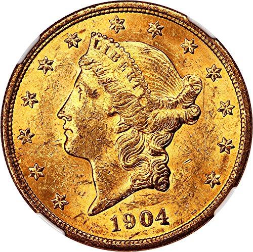 1904 P $20 Liberty Gold Twenty Dollar MS61 NGC
